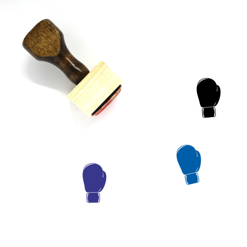 Boxing Glove Wooden Rubber Stamp No. 56