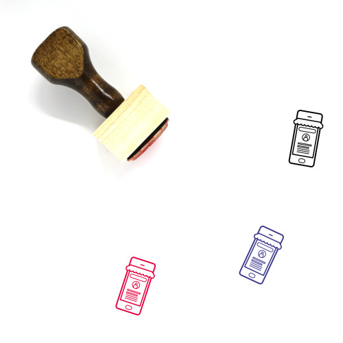 Landing Page Wooden Rubber Stamp No. 41