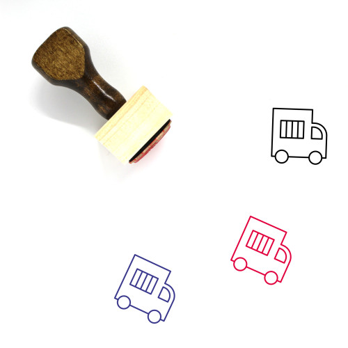 Police Van Wooden Rubber Stamp No. 11