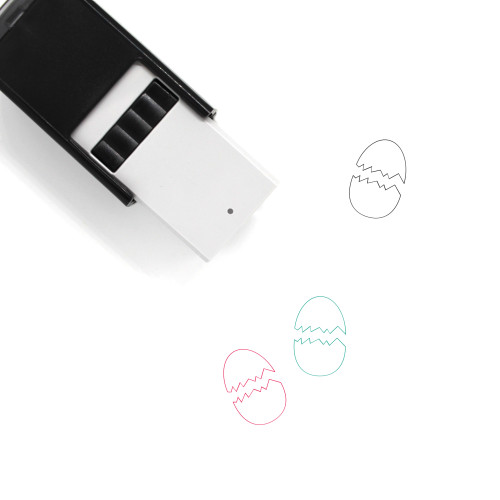 Cracked Egg Self-Inking Rubber Stamp No. 71