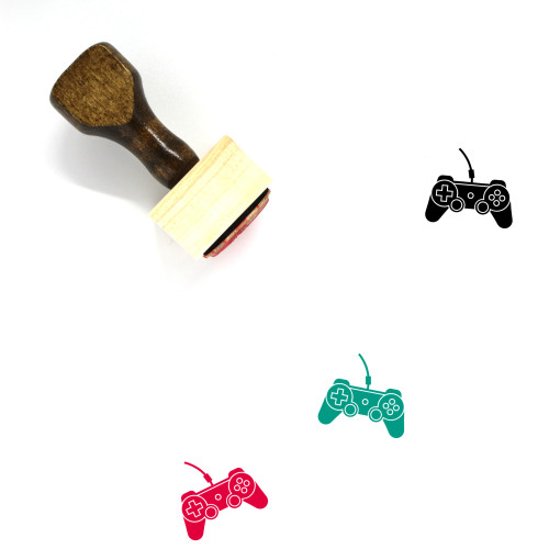 Video Game Controller Wooden Rubber Stamp No. 67