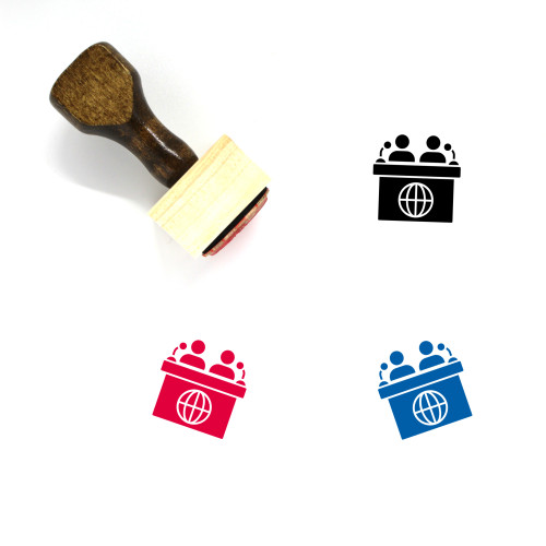 News Conference Wooden Rubber Stamp No. 1