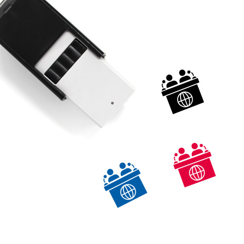 News Conference Self-Inking Rubber Stamp No. 1