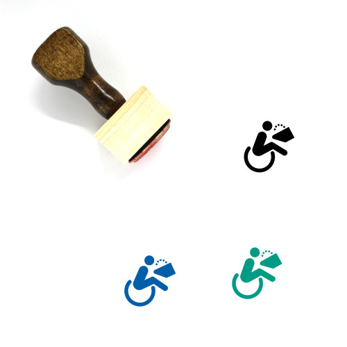 Wheelchair Access Wooden Rubber Stamp No. 5