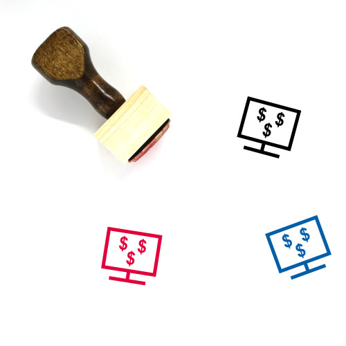 Online Banking Wooden Rubber Stamp No. 43