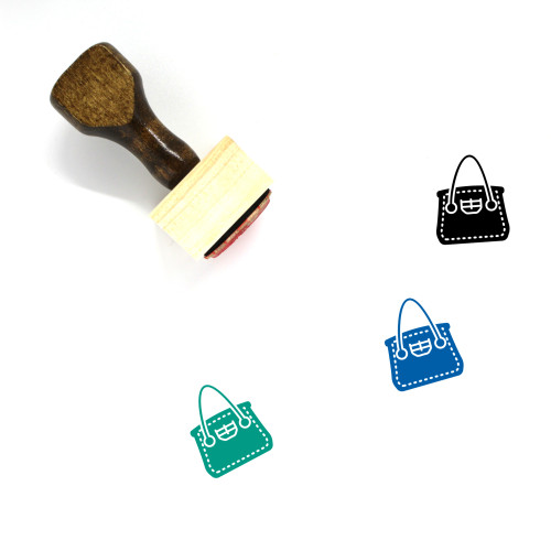 Tote Bag Wooden Rubber Stamp No. 45
