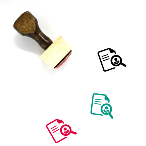 Job Search Wooden Rubber Stamp No. 40