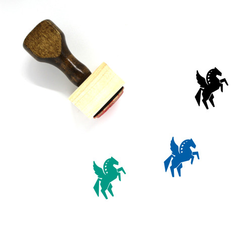 Pegasus Wooden Rubber Stamp No. 4