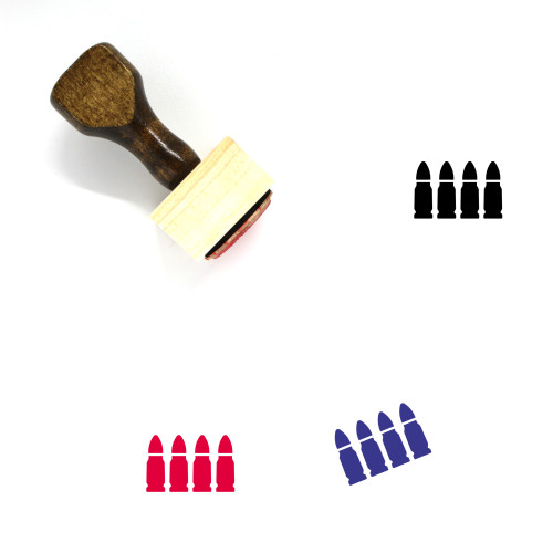 Bullets Wooden Rubber Stamp No. 47