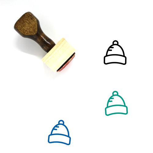 Knitted Cap Wooden Rubber Stamp No. 2