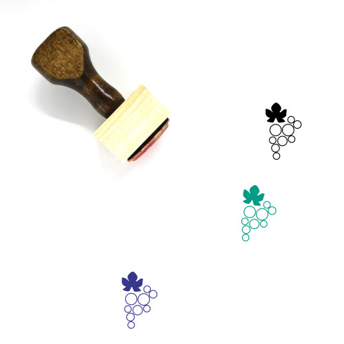 Grape Wooden Rubber Stamp No. 72