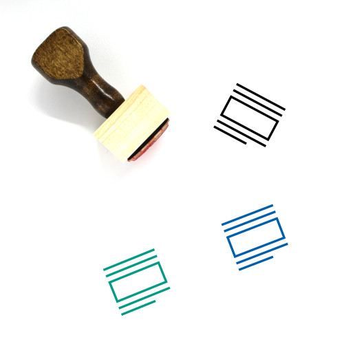 Text Wrap Wooden Rubber Stamp No. 13
