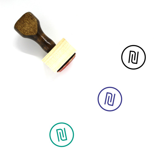 New Shekel Wooden Rubber Stamp No. 1