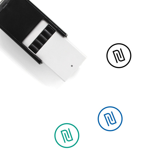New Shekel Self-Inking Rubber Stamp No. 1