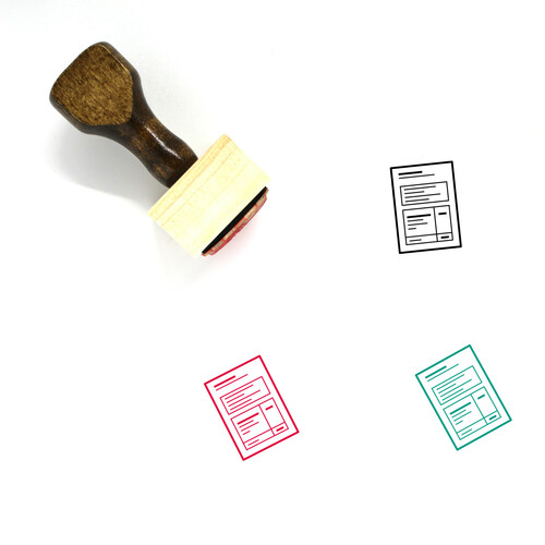Paper Wooden Rubber Stamp No. 173