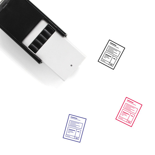 Paper Self-Inking Rubber Stamp No. 173