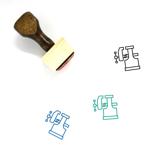 Vice Wooden Rubber Stamp No. 11