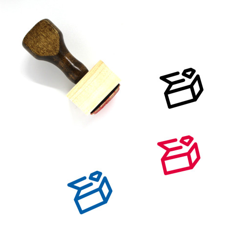 Treasure Chest Wooden Rubber Stamp No. 43
