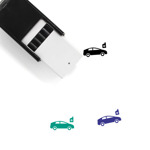 Oil Change Self-Inking Rubber Stamp No. 1