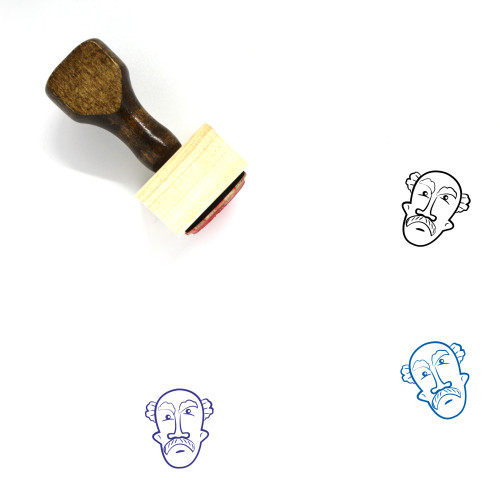 Old Man Wooden Rubber Stamp No. 61