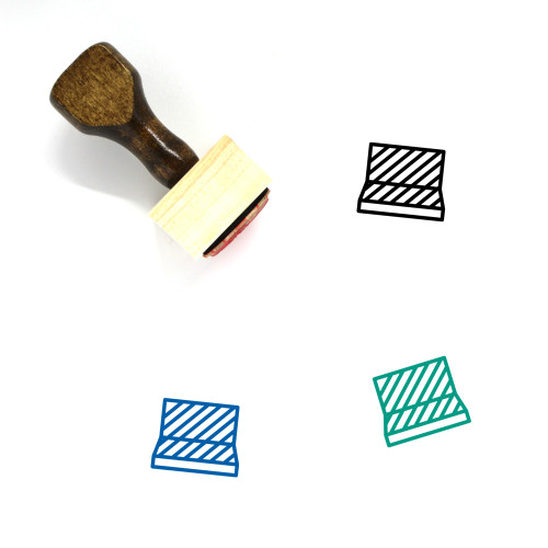 Fencing Wooden Rubber Stamp No. 91