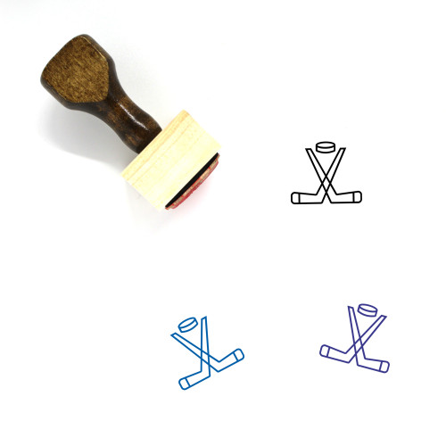 Ice Hockey Wooden Rubber Stamp No. 40