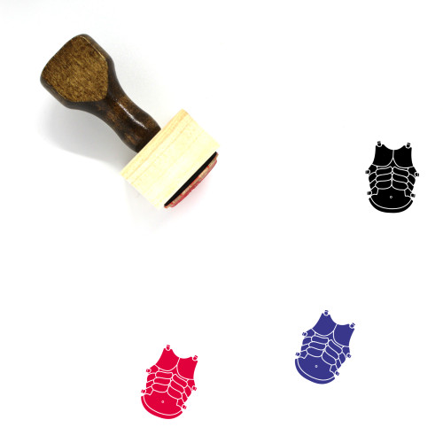 Greek Armor Wooden Rubber Stamp No. 1