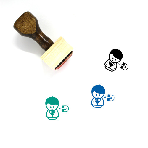 Talent Attraction Wooden Rubber Stamp No. 1
