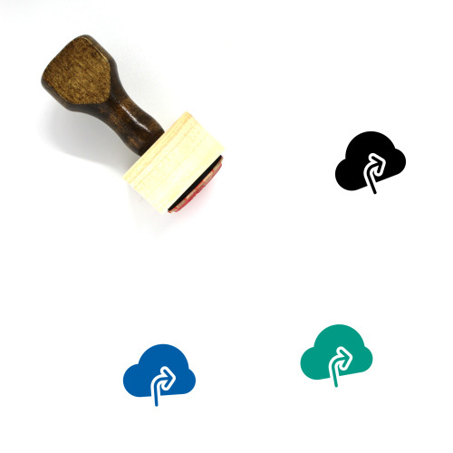 Share On Cloud Wooden Rubber Stamp No. 1