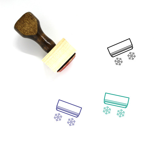 Air Conditioner Wooden Rubber Stamp No. 40