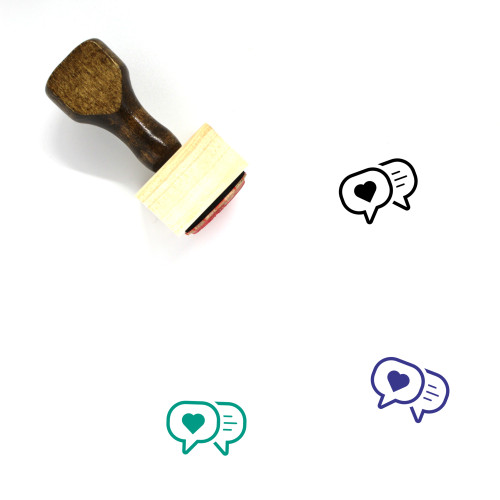 Empathy Wooden Rubber Stamp No. 24