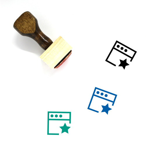 Favourite Files Wooden Rubber Stamp No. 1