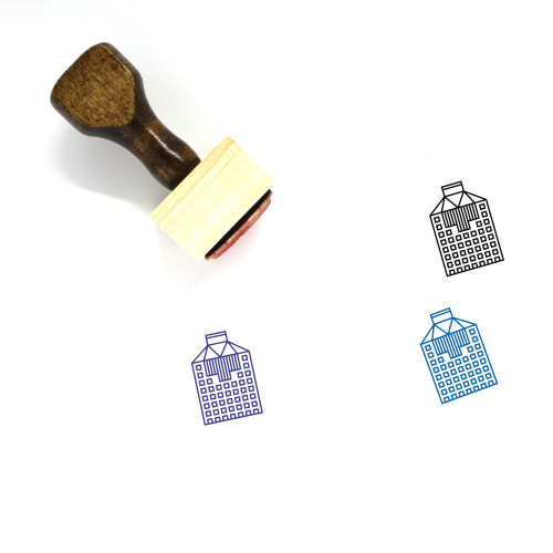 Office Headquarter Building Wooden Rubber Stamp No. 1