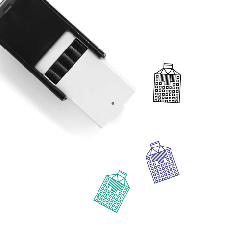 Office Headquarter Building Self-Inking Rubber Stamp No. 1