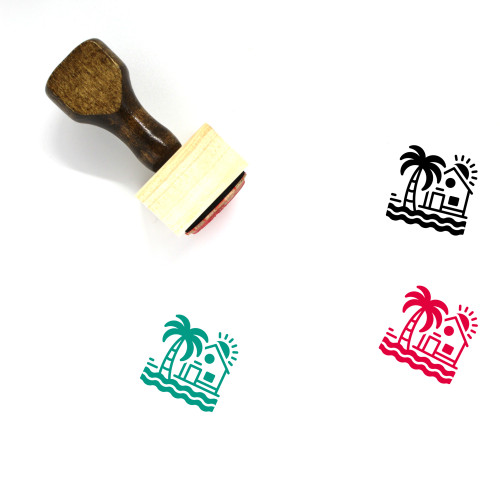 Beach House Wooden Rubber Stamp No. 5