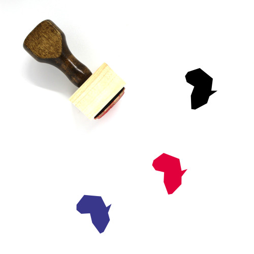 Africa Wooden Rubber Stamp No. 61