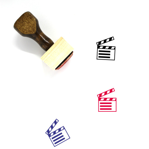 Clapperboard Wooden Rubber Stamp No. 79