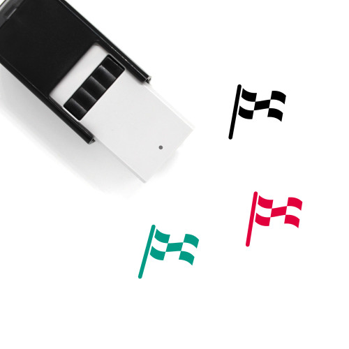 Checkered Flag Self-Inking Rubber Stamp No. 40