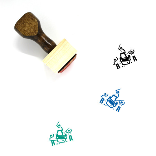 Riot Wooden Rubber Stamp No. 4