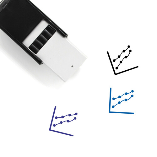 Line Chart Self-Inking Rubber Stamp No. 30