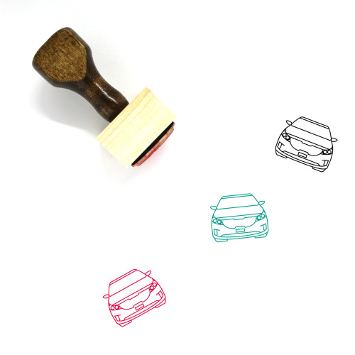 Carnival Wooden Rubber Stamp No. 34