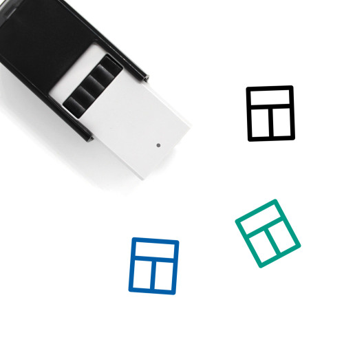 Window Self-Inking Rubber Stamp No. 144