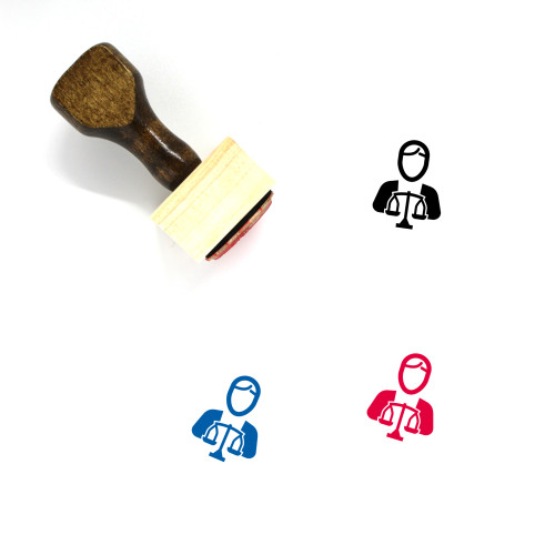 Lawyer Wooden Rubber Stamp No. 71