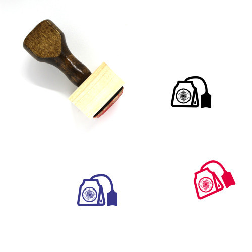 Indian Tea Wooden Rubber Stamp No. 2