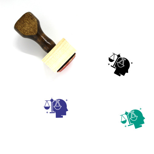Deception Of Justice Wooden Rubber Stamp No. 1