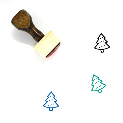 Xmas Tree Wooden Rubber Stamp No. 1