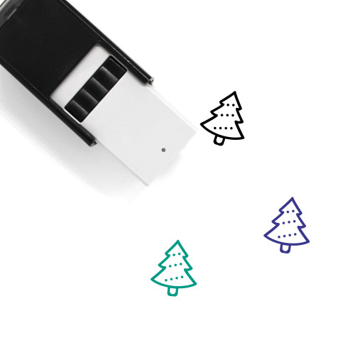 Xmas Tree Self-Inking Rubber Stamp No. 1
