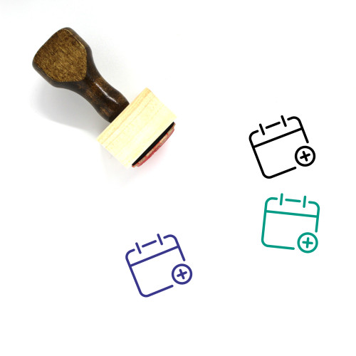 Add Calendar Wooden Rubber Stamp No. 1