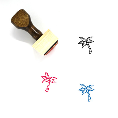Coconut Tree Wooden Rubber Stamp No. 54