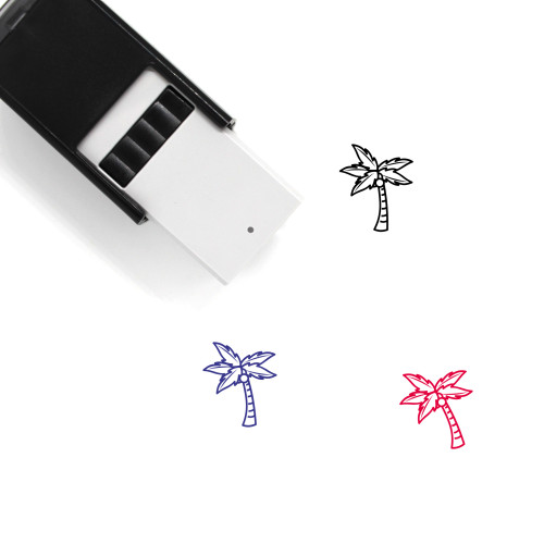 Coconut Tree Self-Inking Rubber Stamp No. 54